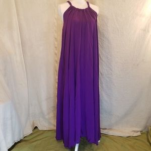 Elan Purple Flowy Rayon Maxi Dress Medium